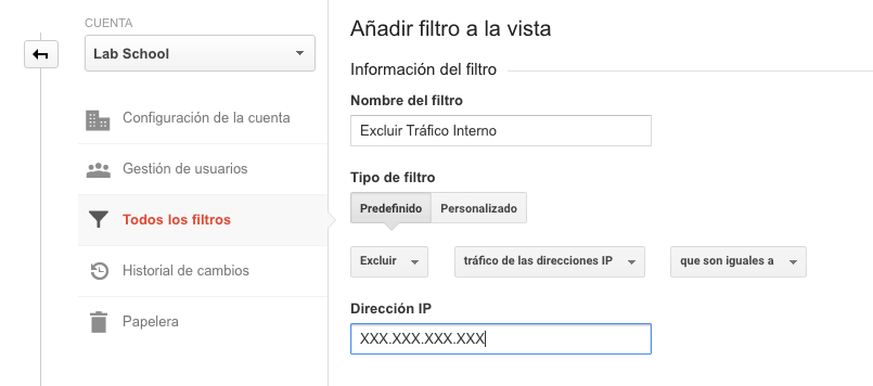 Google Analytics - Excluir tráfico interno